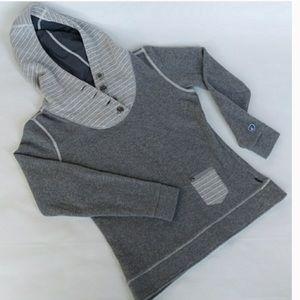 Kuhl Chianti fleece hooded hoodie gray grey Large